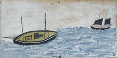 Two Boats by Alfred Wallis