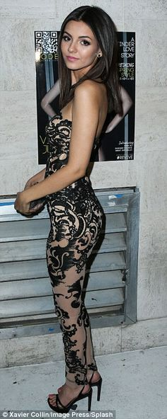 Victoria Justice is sexy as hell in a skin-tight cat suit. Victoria Justice Outfits, Vicky Justice, Victorious, Justice Clothing, Skin Tight, Catsuit, Poses, Ideias Fashion, Sexy Women