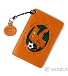 Soccer-F Leather Commuter Pass/Passcard Holders