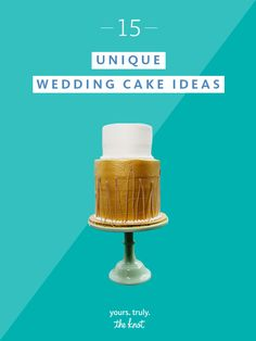 Your wedding cake is the exclamation point of your reception—make sure it stands out.