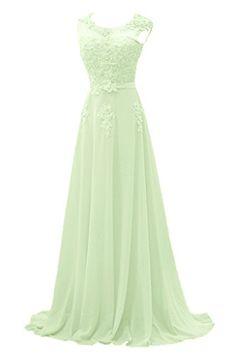 Gorgeous Bride Modisch Lang Rundkragen A-Linie Chiffon Tuell Spitze Schleppe Abendkleider Festkleider Ballkleider -44 Sage Gorgeous Bride http://www.amazon.de/dp/B00Y2HQPB0/ref=cm_sw_r_pi_dp_tEG1wb0A2DKDA