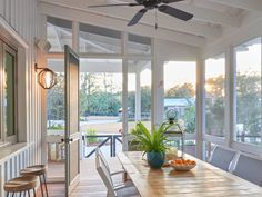 For Sale: This Lowcountry Bungalow Is a Perfect Blend of Farmhouse and Beach House - Coastal Living - Coastal Living Beach Cottage Style, Beach Cottage Decor, Small Beach Houses, White Shiplap Wall, White Siding, South Carolina Homes, Farmhouse Architecture, Building A Porch, House With Porch