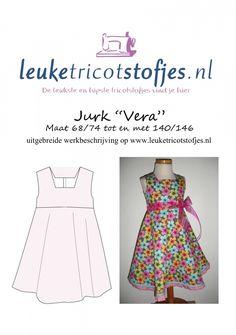 Pattern (double-sided) Dress Vera 68/74 - 140/146