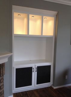 Built in tv cabinet.