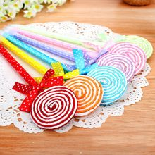 <24pcs/lot> Lollipop ball pen souvenirs happy birthday party supply baby shower gift kids(China (Mainland))