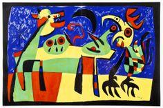 Joan Miro, (Spanish, 1893-1983) | Dog Barking at Moon, 1952  |  Naples Winter Auction