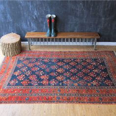 30s Hand-Knotted Flat Weave Rug
