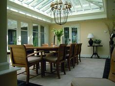 Small Garden Room Ideas, Orangery Roof, Modern Conservatory, Small Dining Area, Roof Lantern, Fibreglass Roof, Single Doors, Clever Design, Sunroom