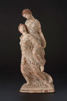 Piggyback Girls Tanagra FigurineMeasurements: Height cm Material: Ceramic Date: Late century Origin: unknown Find Spot: unknown Collection: Gift from the Brooklyn Museum Accession Number: Hellenistic Art, Hellenistic Period, Terracota, Ancient Greek Art, Ancient Greece, Archaic Greece, Greece Culture, Art Antique, Arte Popular