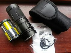 Thrunite tn4a 1150 lumens flashlight uses 4 AA's daylight in your hand a little bulky for edc but good for in your go bag.