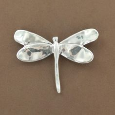 Sterling Silver Electroform Dragonfly Pin/Pendant - Fire and Ice