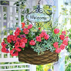 """www.maryirwinwatercolors.com  'Welcome Home'  20 x 21"""" Watercolor by Mary Irwin"""