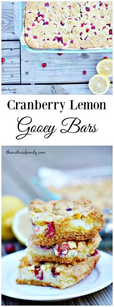Are you looking for an easy dessert that's perfect for the holidays?  These Cranberry Lemon Gooey Bars are just that!