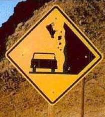 Beware of falling cows!