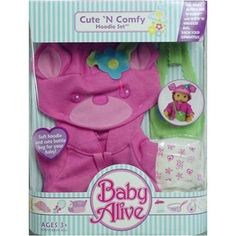 Cute 'N Comfy Hoodie Set for Baby Alive Sip 'N Slurp and Wets 'N Wiggles Dolls Baby Alive.