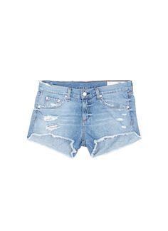 RAG & BONE/JEAN - Distressed cutoff denim shorts   Blue Shorts Jeans   Womenswear   Lane Crawford - Shop Designer Brands Online