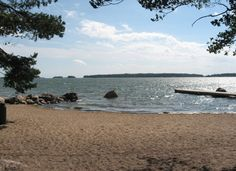 The beach of Mellsten (Espoo, Finland).