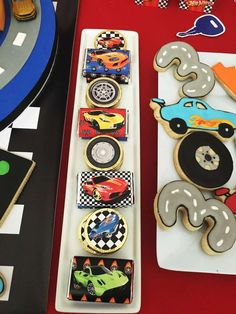 Amazing treats at a Hot Wheels birthday party! See more party ideas at CatchMyParty.com!