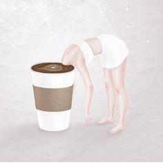 Goodmorning ☕️☕️☕️ #barnini #kaffeenini #happycoffee illustration : @henn_kim ☕️☕️☕️