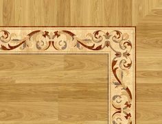Large picture of the floor inlay, border, medallion or parquet