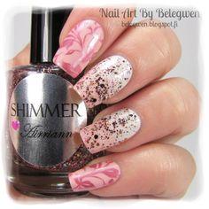 Nail Art by Belegwen: Shimmer Polish: Airriann