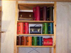 """Handtasche """"Rondo"""" aus rein pflanzlich gegerbte... von dielederwerkstatt auf DaWanda.com"""