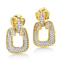 David Webb | Collections | ancient world | Ancient World Diamond and Gold Earrings