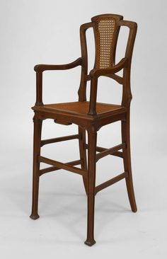 Art Nouveau Art Nouveau misc. furniture child's furniture walnut