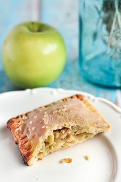 Homemade organic apple pop tarts