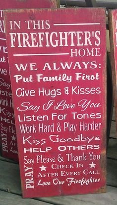 In+This+Firefighter's+Home+Wood+Sign++Father's+Day+by+SignShed,+$34.95