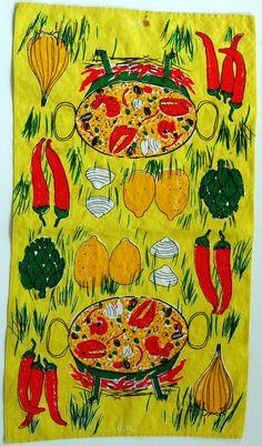 Vera Neumann lobster stew tea towel