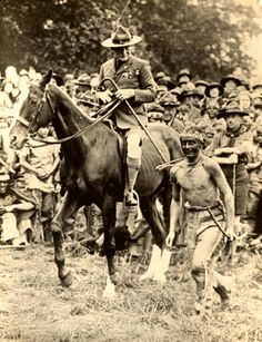 Former Cavalry officer Robert Baden Powell was often seen on horseback even as leader of his scouting movement. Robert Baden Powell, Scout Activities, Cub Scouts, Eagle, Tours, America, Horses, Animals, Scouting