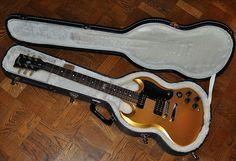 2014 Gibson Futura - Bullion Gold - eTune - P90 Sidewinder - Versatile Guitar - OHSC -Looks Unplayed   Reverb