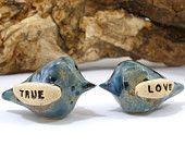 Wedding cake toppers Love birds Jewelry Home by orlydesign on Etsy