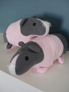 Fleece Menagerie: Skinny Guinea Pig Twins (SOLD)