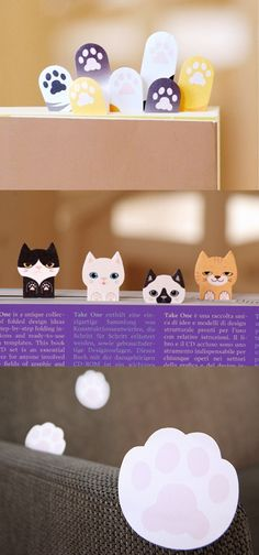 Meow! How cute are these sticky notes?? This Kitty Sticky Note Collection comes with 3 different kitten themed sets! Mark your pages with the cutest cats and the most adorable kitten paws too! Homework will never be boring again with these little guys! Whether you're studying or reading a book for fun, these pets will give you that little push and inspiration you need to keep going! These are sure to bring a smile to your face! Upgrade your stationery collection with this very special set…