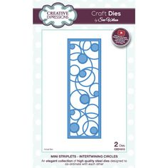 Creative Expressions Mini Striplet Collection Intertwining Circles Dies