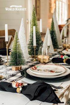 Create the perfect dining mood with tablecloths and table runners in a huge assortment of exclusive colors and patterns from traditional to exotic. Christmas Tablescapes, Christmas Decorations, Table Decorations, Christmas Ornaments, Holiday Decor, Joy To The World, Affordable Home Decor, World Market, Festival Decorations