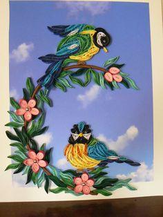 Mésanges - quilled birds