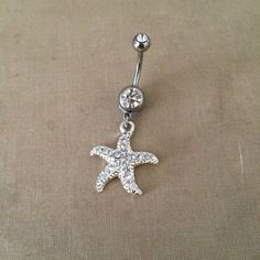 Belly button ringstarfish bellybutton ring by PrettyBabyMillinery, $14.00