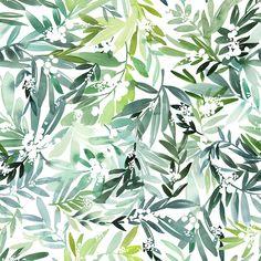 Yao Cheng Design- Foliage- Watercolor Surface Pattern