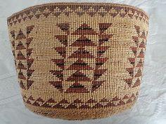 Wonderfully Large HUPA Karok Yurok Native American Indian Basket | eBay