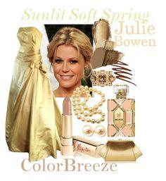 Julie Bowen - Sunlit Spring by prettyyourworld on Polyvore featuring beauty, Dolce&Gabbana, Gorgeous Cosmetics, Smashbox, Wildfox, Henri Bendel, Mikimoto, Chanel, ZAC Zac Posen and Harvey Berin