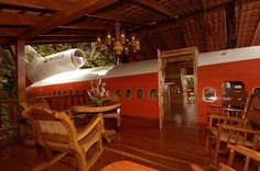 Funky Airplane Hotel Conversion in Costa Rica