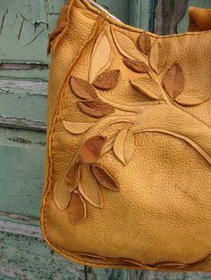 Lone Tree Elk Leather Bag