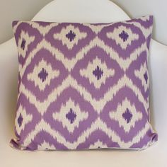 Purple Diamond Ikat Tribal Cushion Cover
