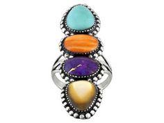 Southwest Style By Jtv(Tm) Multi-color Kingman Turq,Mop