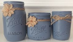 A personal favorite from my Etsy shop https://www.etsy.com/listing/452191640/painted-mason-jar-setold-violet-chalk