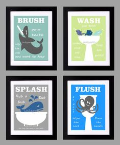 Childrens Bathroom Print  Kids Bathroom Rules  by inkspotsgallery, $45.00