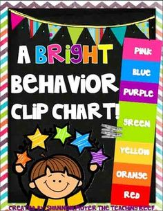 In this behavior management plan you will find materials for creating your own BRIGHT clip chart behavior system. This matches my other bright themed decor items as well as my daily classroom centers. I have made two color choices for you to choose from.